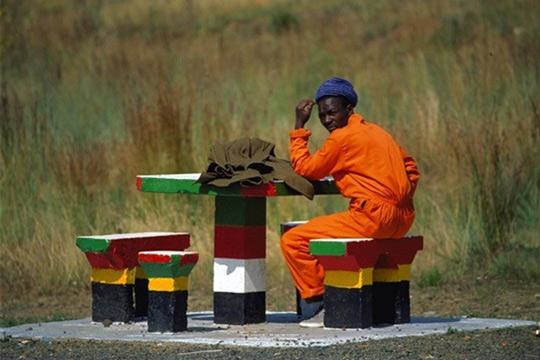 Photo d'un ouvrier en Afrique du Sud